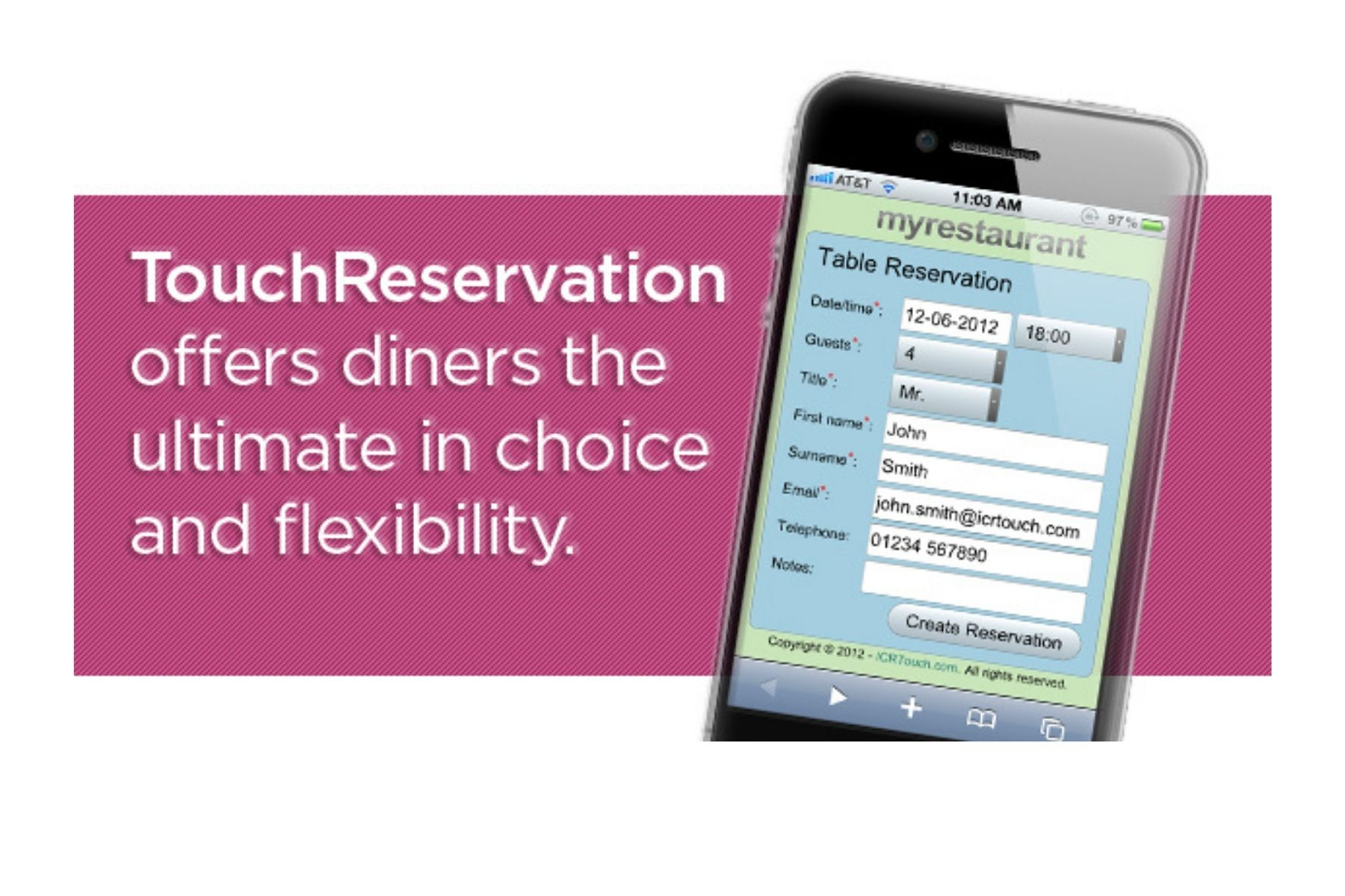 touch reservation